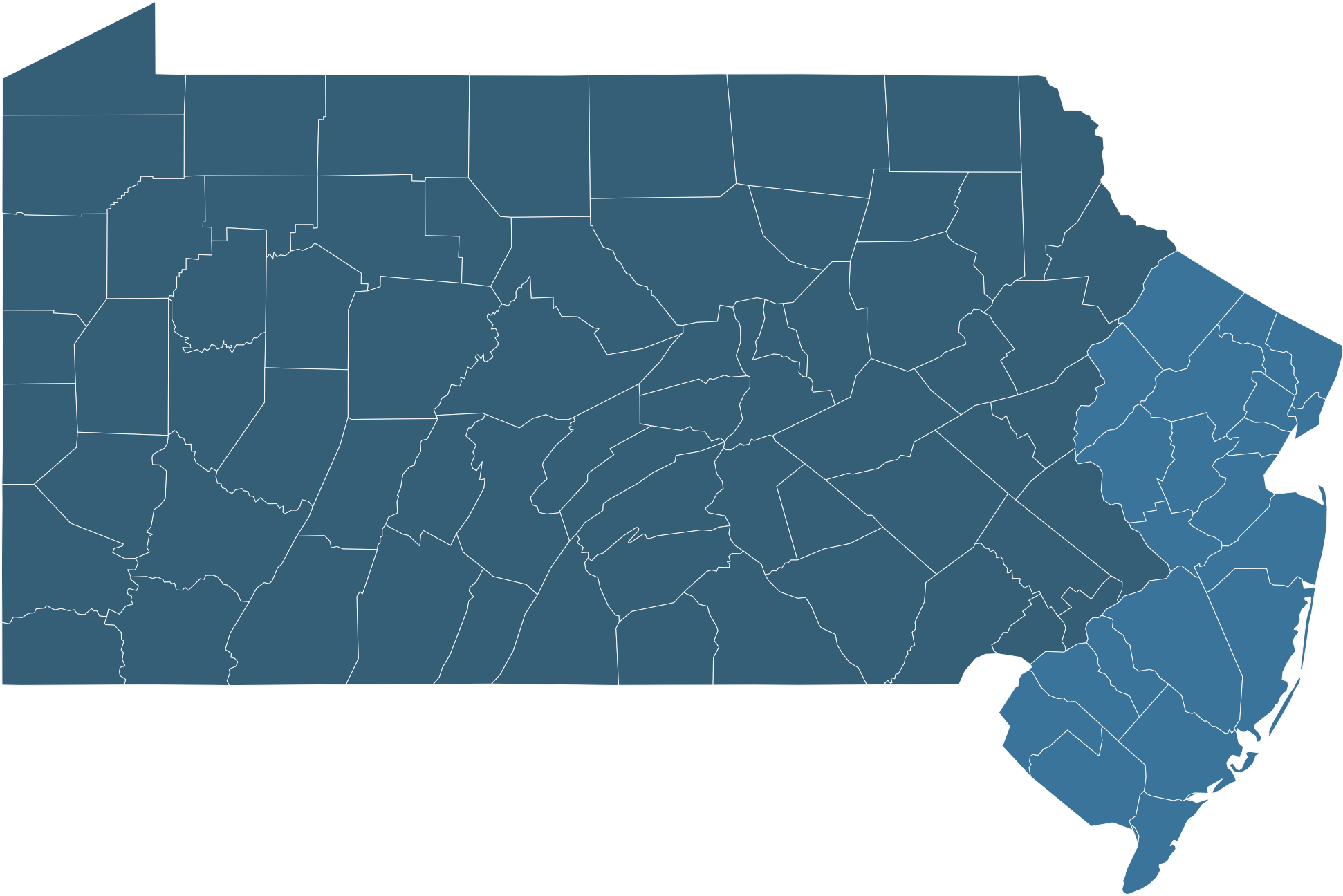 nj and pa map